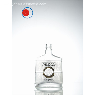 Cylinder and Round Bottom Vodka Glass Bottle